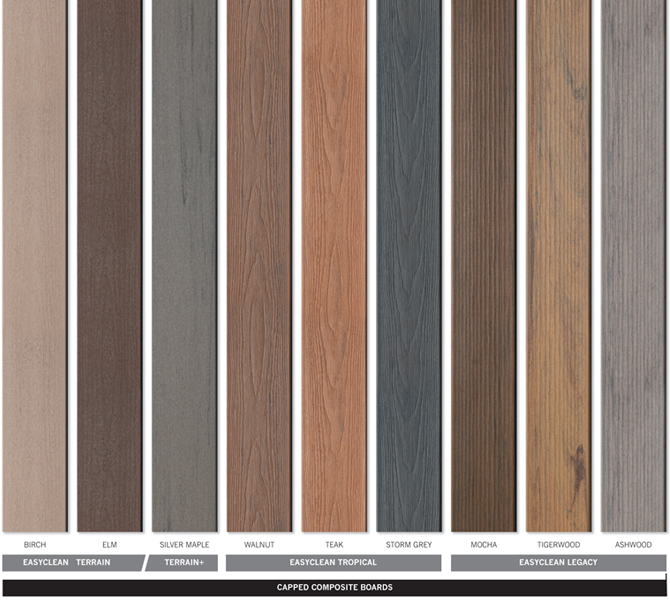 What is capped composite decking timbertech uk for Capped composite decking