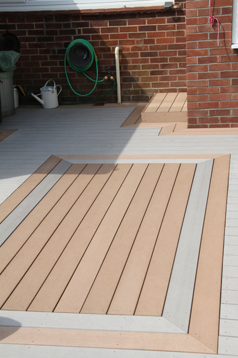 Edeck cedar decking timbertech uk for Alternative to decking