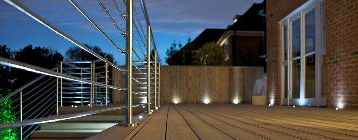 decking vertigrain cedar lighting deck light kit location