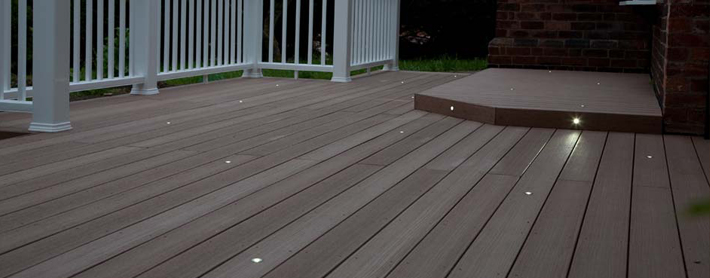 decking vertigrain cedar lighting deck light kit location north