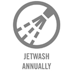 Jetwash annually